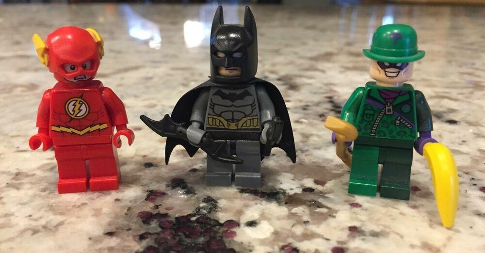 Lego Batman lot of 3 Batman Riddler The Flashl Minifig