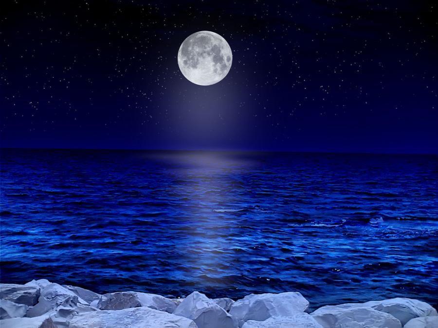 чудесные картинка ночное море и звезды взглядом целые страны