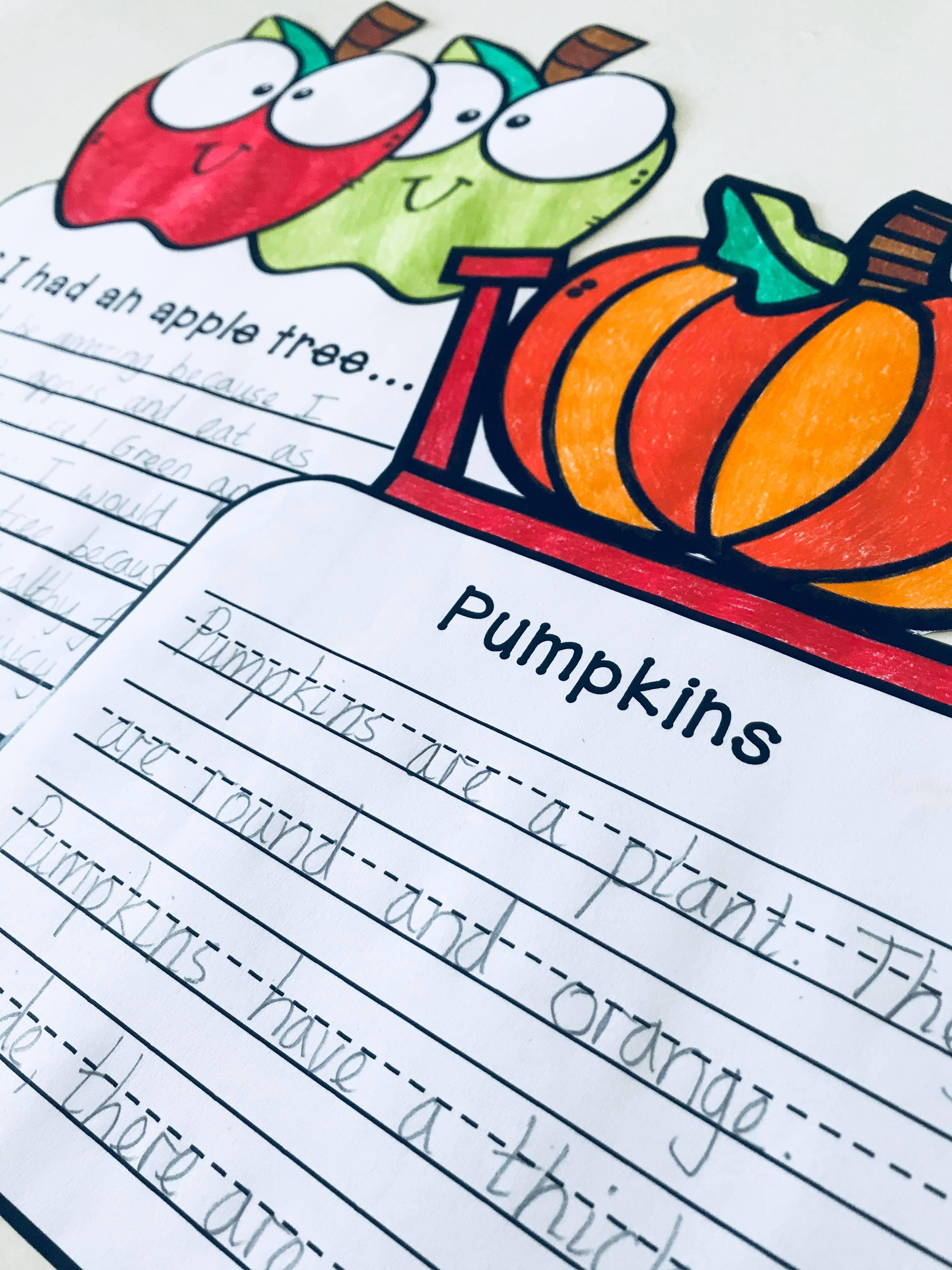 Autumn Fall Craftivity 3 No Prep Writing Prompts Amp Crafts