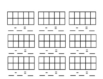 Subtracting With Ten Frames Blank Template  Frame Template Ten