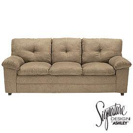 Surprising Signature Design By Ashley Parkton Mocha Sofa From Big Lots Interior Design Ideas Tzicisoteloinfo