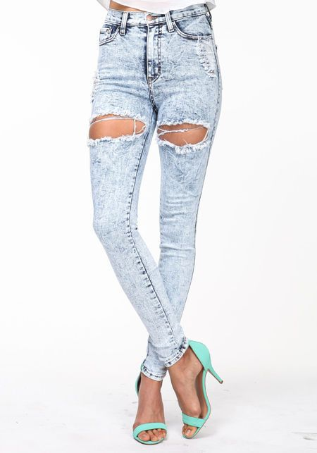 e0ab4b49eb Cut Out High Waisted Jeans  lightwash  acidwash  distressed  holes   highwaisted  denim  jeans  spring  newarrivals  loveculture