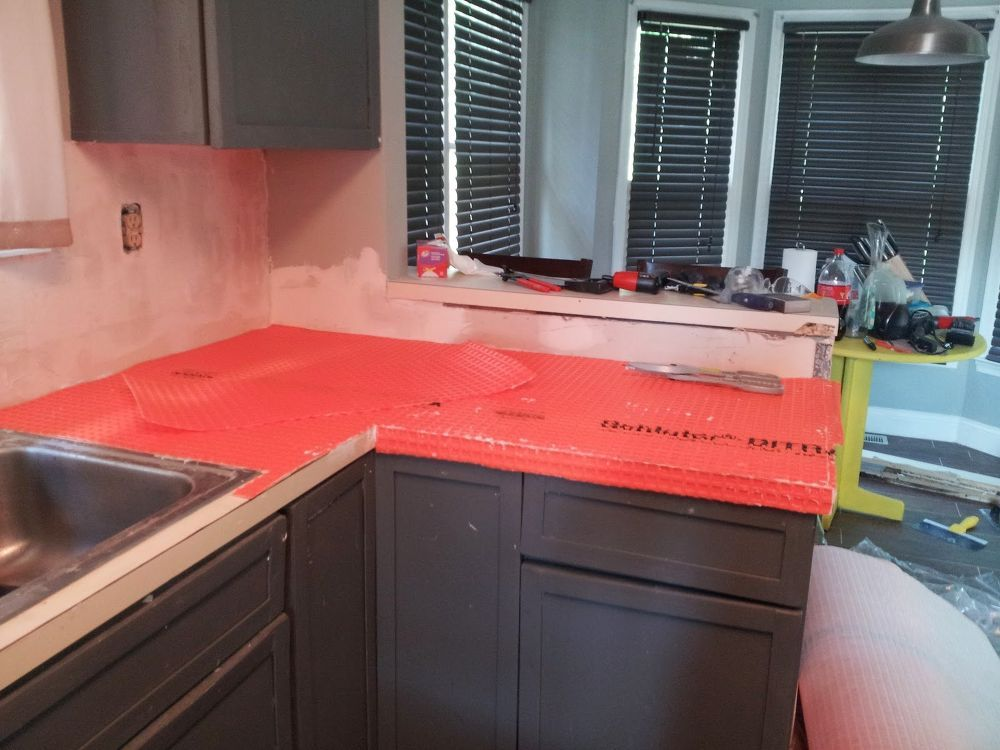 Marble Countertop Hack How To Tile Over Laminate Countertop