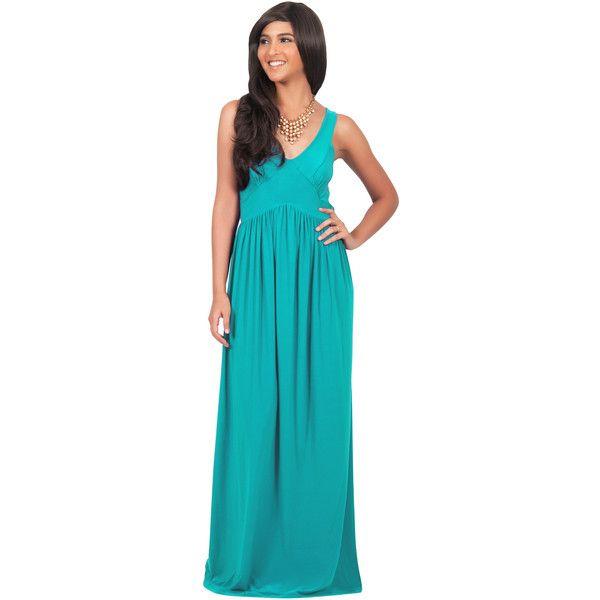 b25e7c84179 Koh Koh PAULINA - Sleeveless Flattering Summer Sun Maxi Dress ( 50) ❤ liked  on