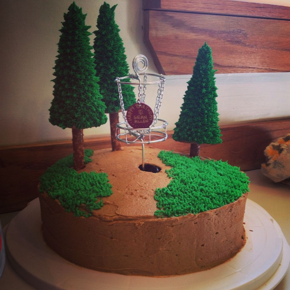 Disc Golf Cake With Images Golf Cake Toppers Golf Grooms Cake