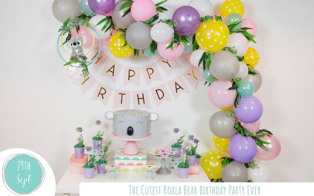 The Cutest Koala Bear Birthday Party Ever! Decoracion
