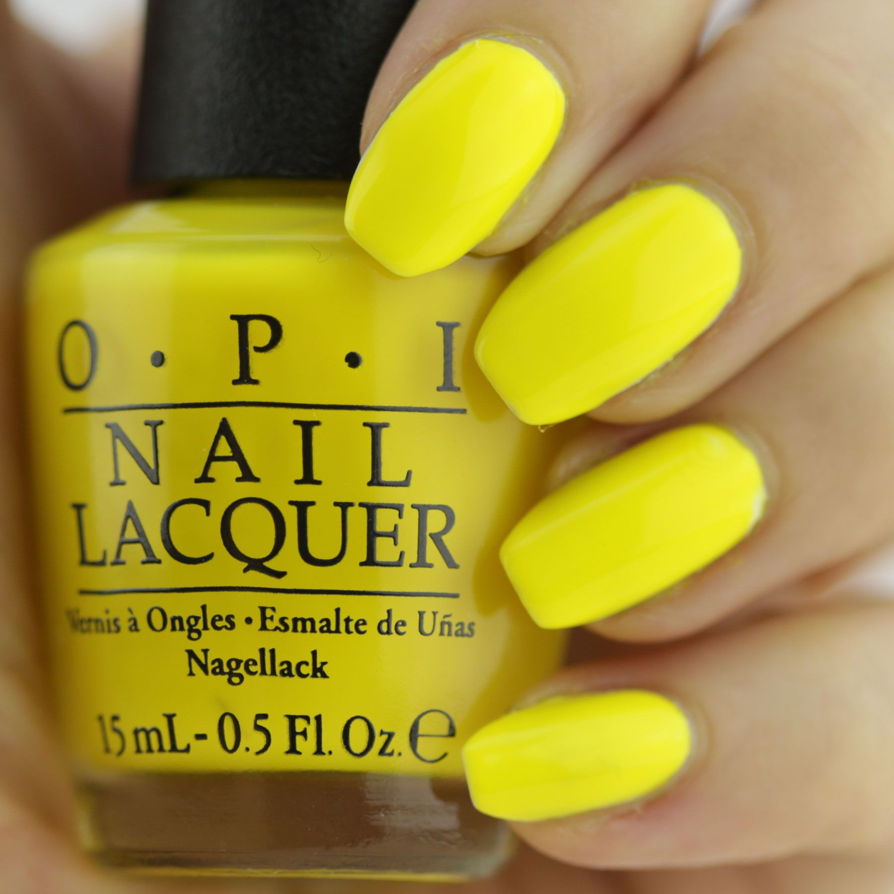 Summer Nail Vibes With Opi Tru Neons With Images Yellow Nail