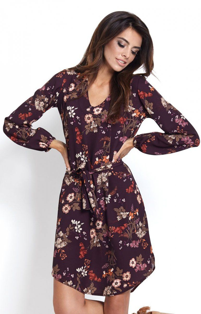 96fb56027a Ivon Karina sukienka w kwiaty W tym sezonie zdecydowanie królują printy
