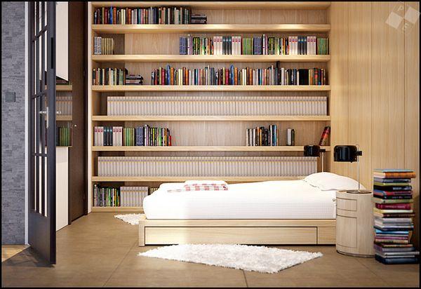 Built in bookshelves stunning london loft house renovation