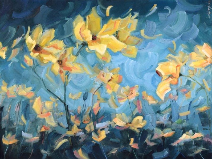 Artist holly van hart abstract nature paintings