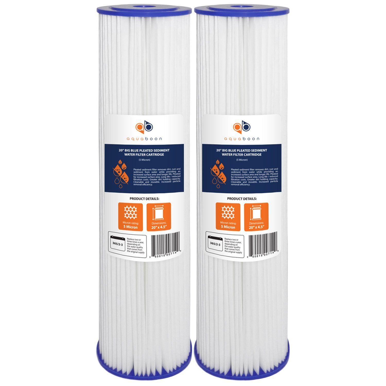 Aquaboon 5 Micron 20 Big Blue Pleated Sediment Water Filter