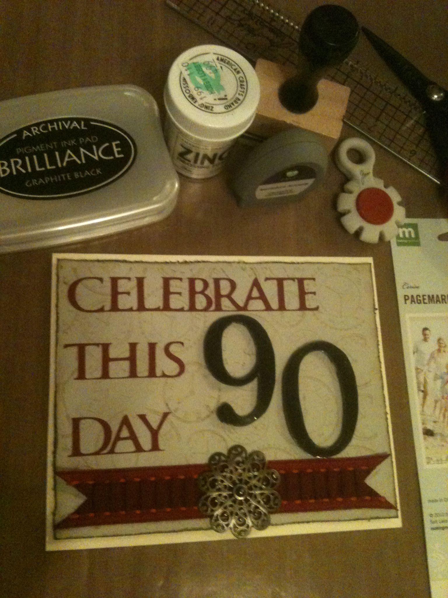 Card Making Ideas 90th Birthday Part - 35: 90th Birthday Card