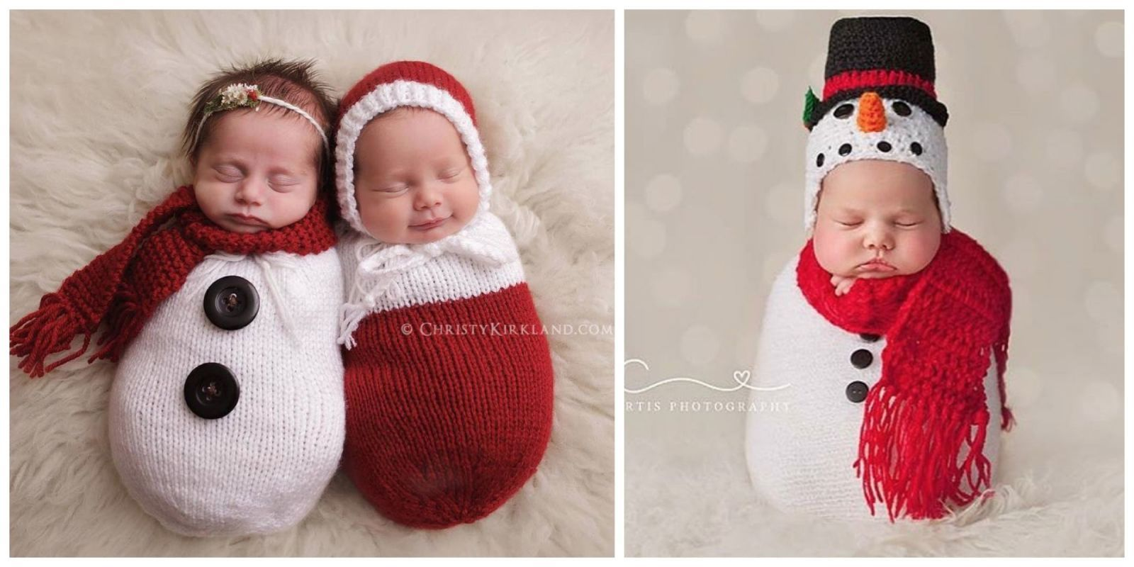 54b19a5ad These 17 Newborn Babies Wearing Knitted Christmas Outfits Will Fill Your  Heart With Cheer - CountryLiving.com