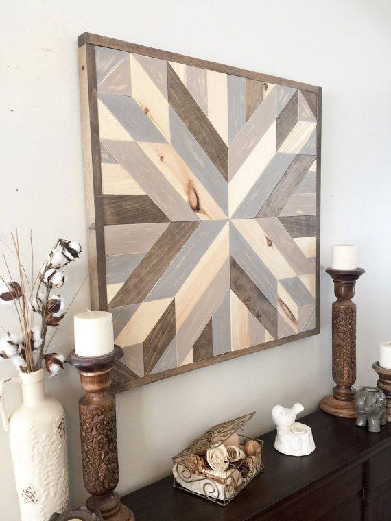 Recuperado arte de pared de madera por NorthernOaksDecorCo en Etsy