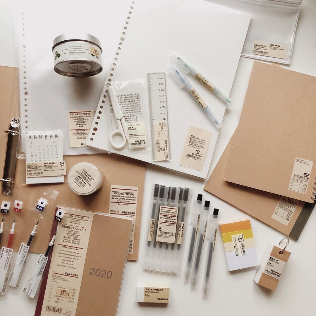 Studygram On Instagram Question Do You Like Muji Products Hey Guys I M Super Thankful For All The Love And Suppor In 2020 Muji Stationery Muji Notebook Muji