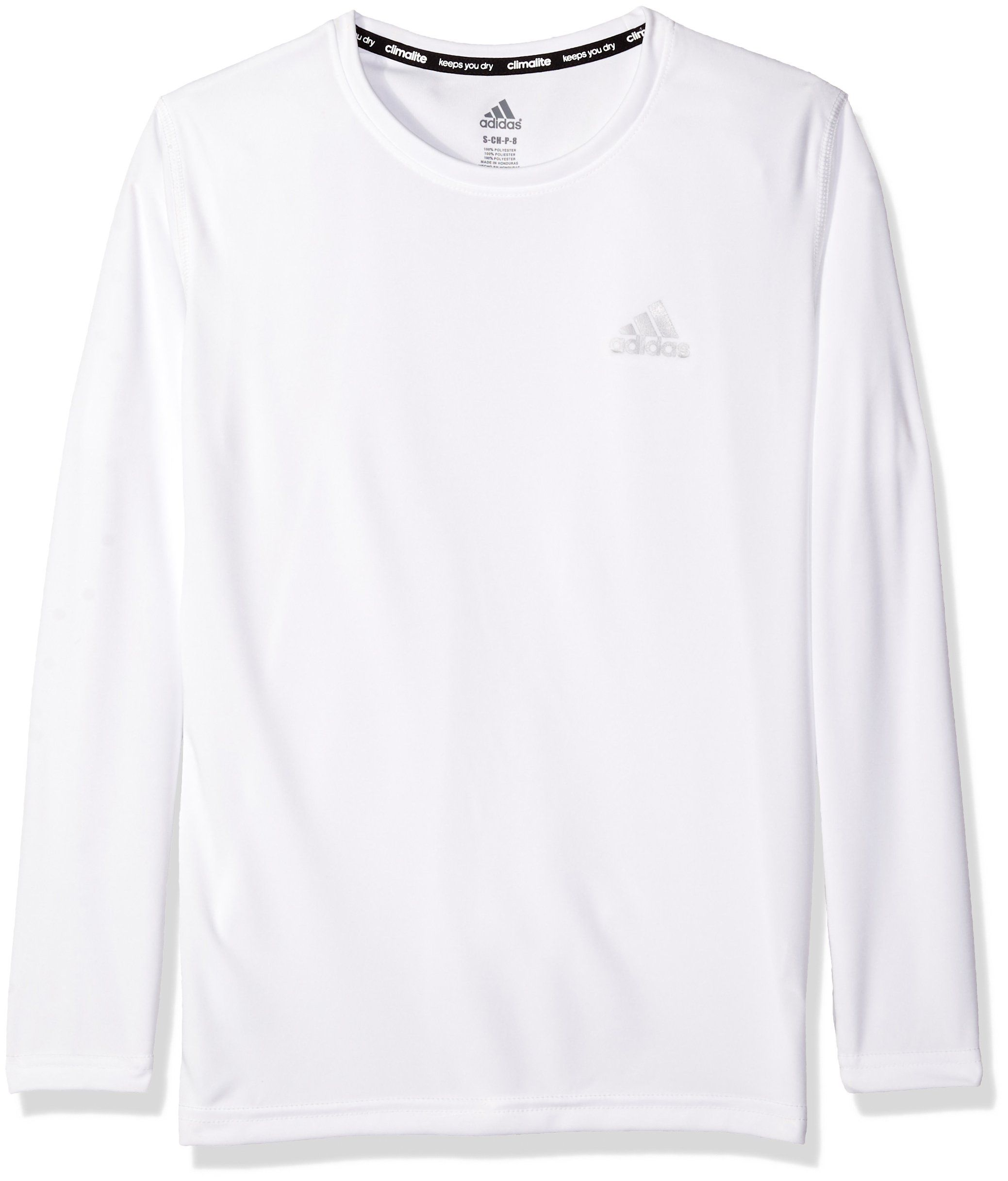Adidas Boys' Essential Large18 Sleeve Long White Clima Tee X Big fRrwxAf