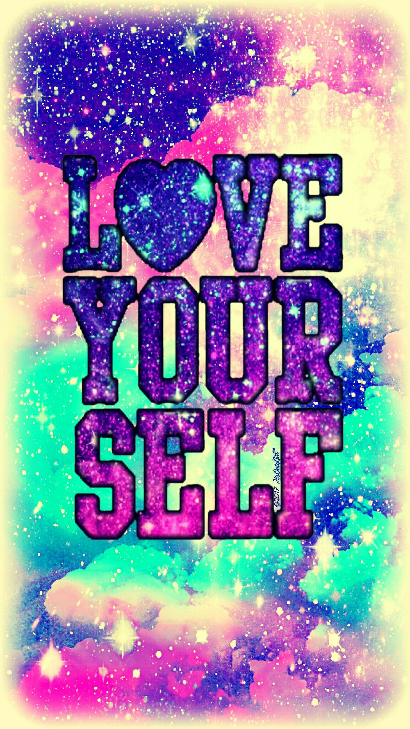 Love Yourself Galaxy Wallpaper I Created For The App Cocoppa Cute Galaxy Wallpaper Cover