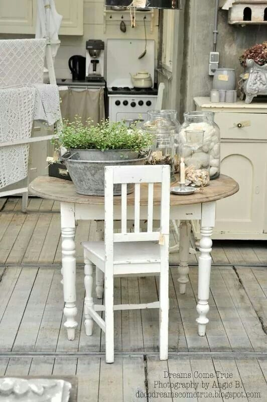 Cottage kitchen table.