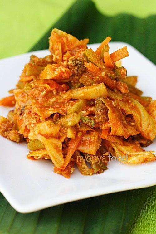 Malaysian salad with spicy peanut sauce acar salad and coleslaw food forumfinder Choice Image