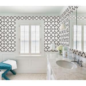 Brewster 56.4 sq. ft. Geovine Black Geometric Wallpaper-2686-20274 - The Home…