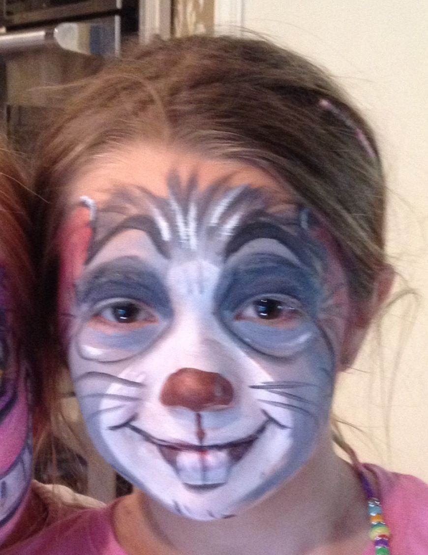 Alice in wonderland mouse face painting