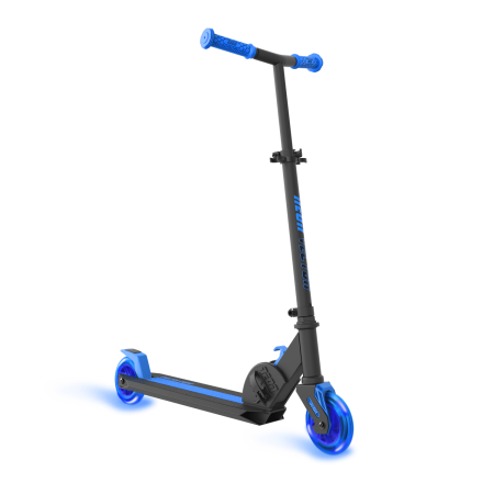 Neon Vector Scooter With Led Ligth Up Wheels Blue For Kids Age 5 12 Walmart Com Kids Scooter Scooter Kick Scooter