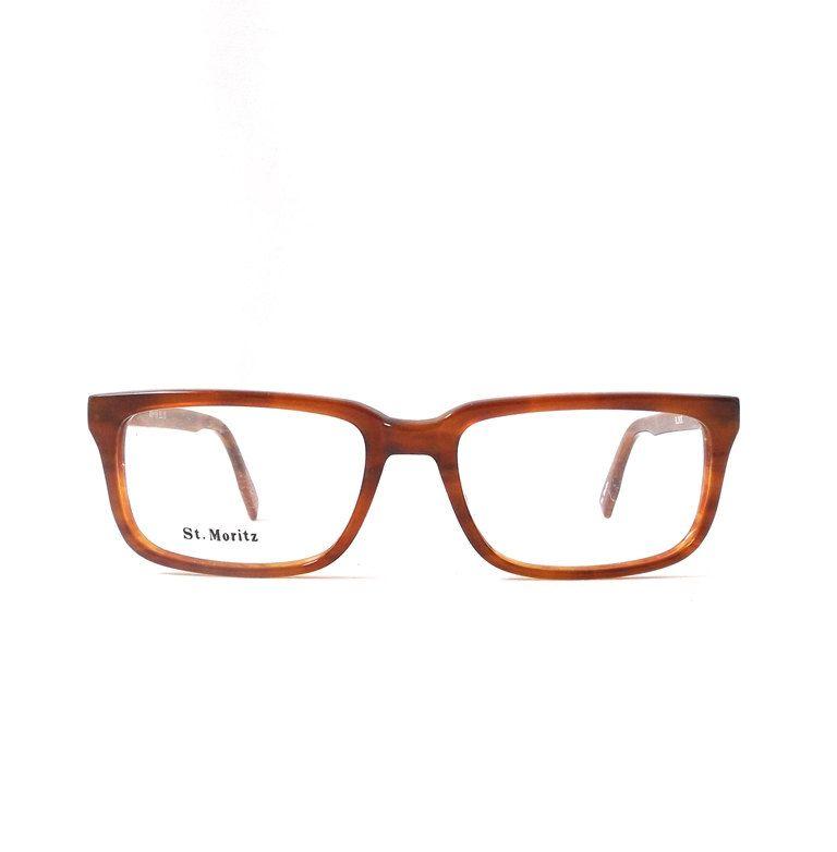 dbe55c1f50 vintage 1980 s NOS eyeglasses square brown plastic frames amber caramel prescription  eyewear retro eye glasses usa new mens womens old retro by ...