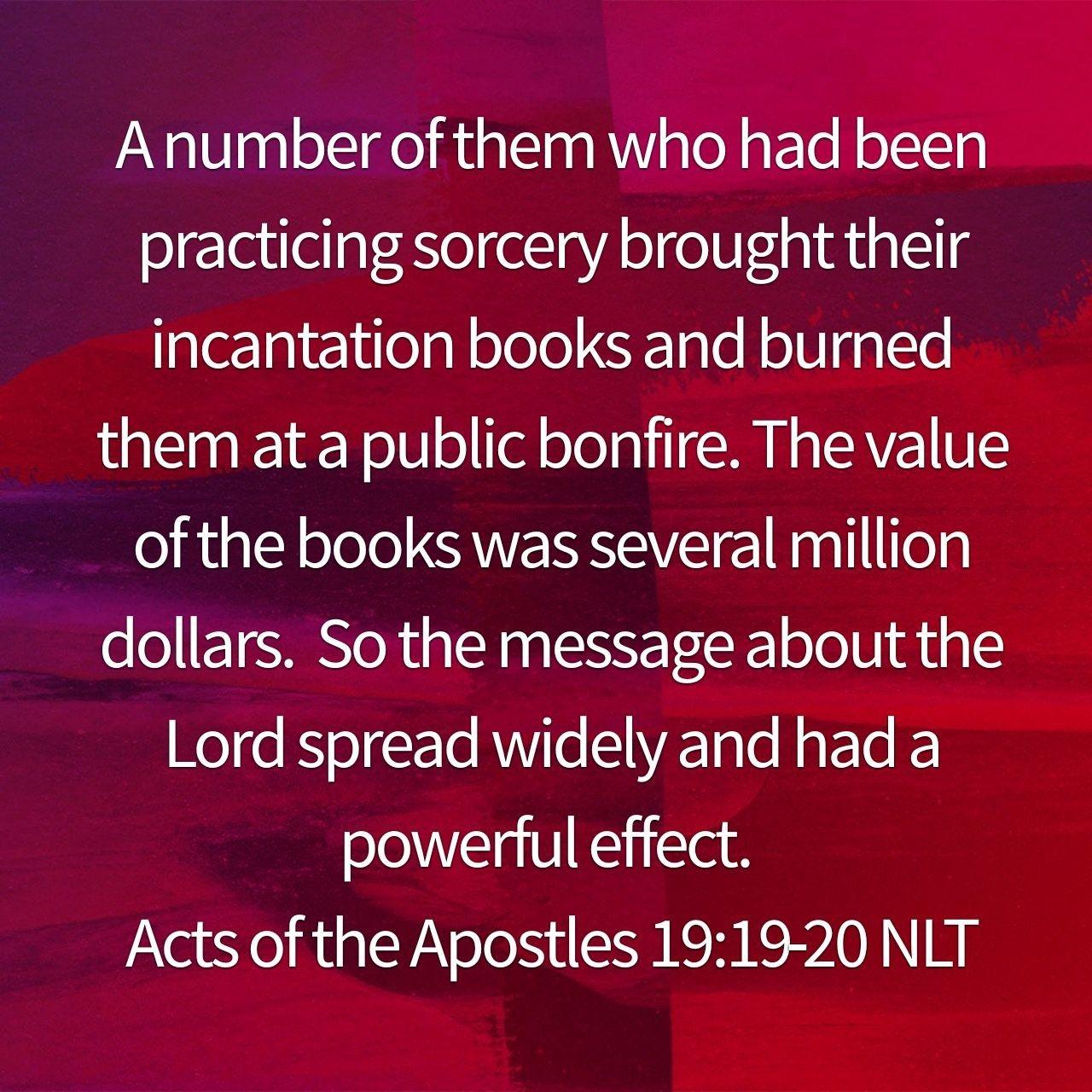 Acts 19:19-20 | Holy Bible Verses | Acts 19, Bible verses, Bible