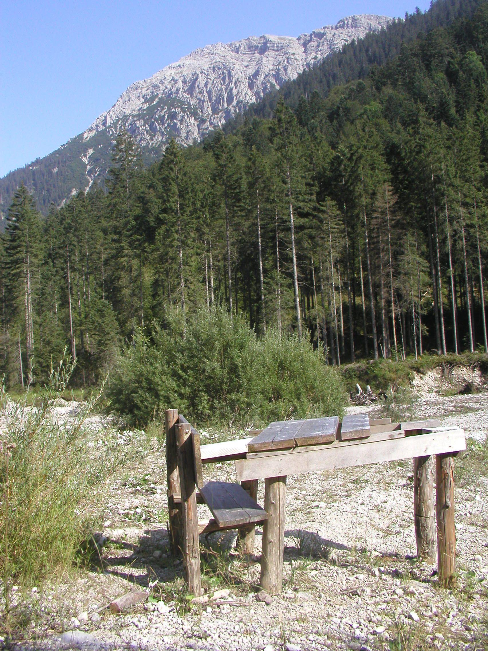 Rastplatz Im Ammertal Austria Nature Travel Mountains