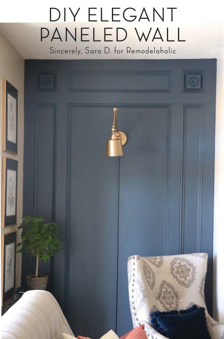 DIY Elegant Paneled Wall Treatment