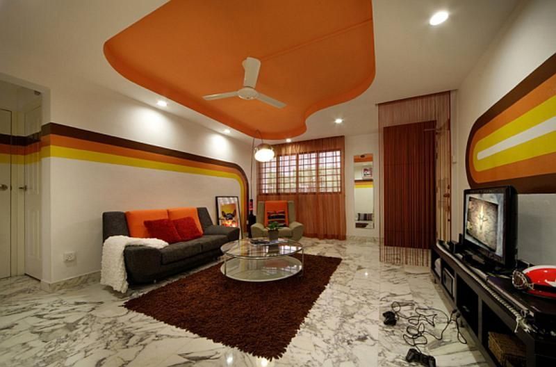 Living Room, Retro Escape Living Room Instructions Like The Set Of A ...