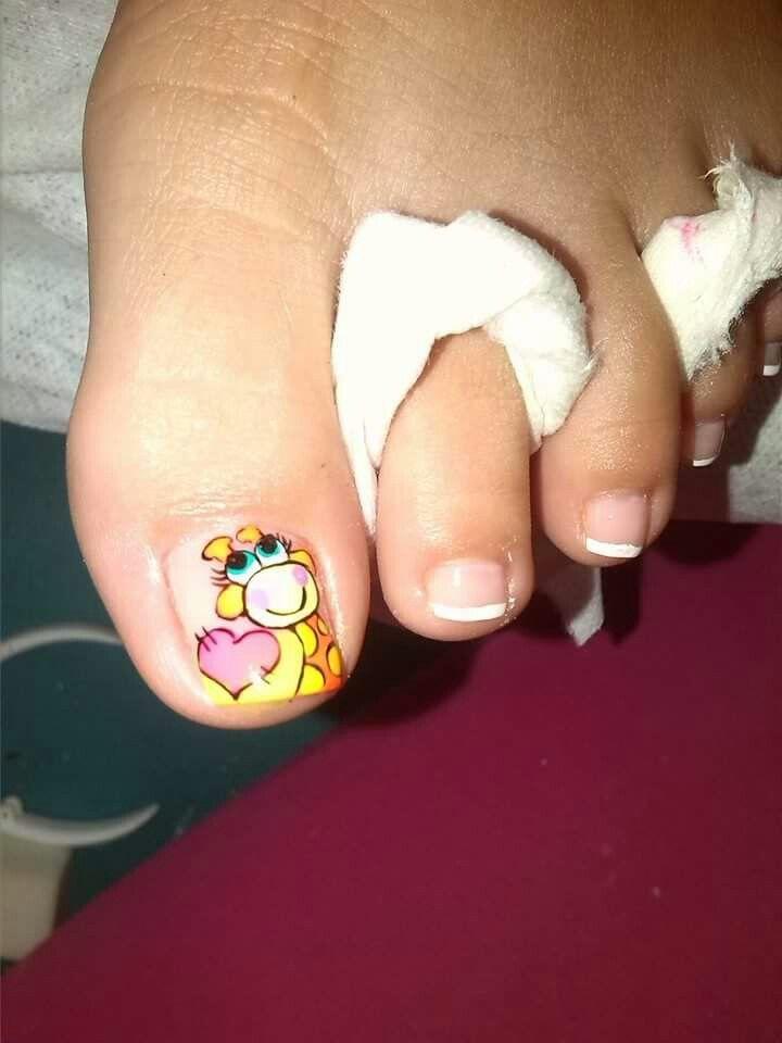 Jirafa Guti1 Pinterest Nails Toe Nail Designs Y Toe Nail Art