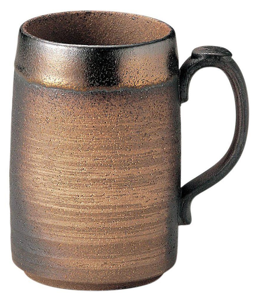 Japanese Beer Mug, Banko Yaki Pottery, (Kinsai) 440ml