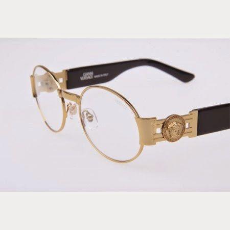 gold frame versace eyeglasses