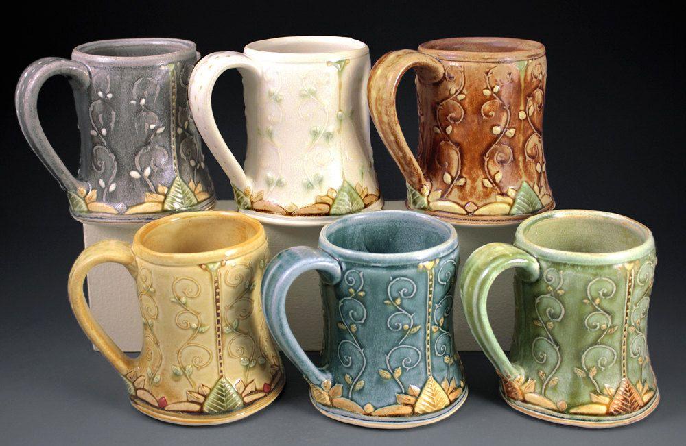 Handmade pottery mug 14oz made to order by spectorpottery