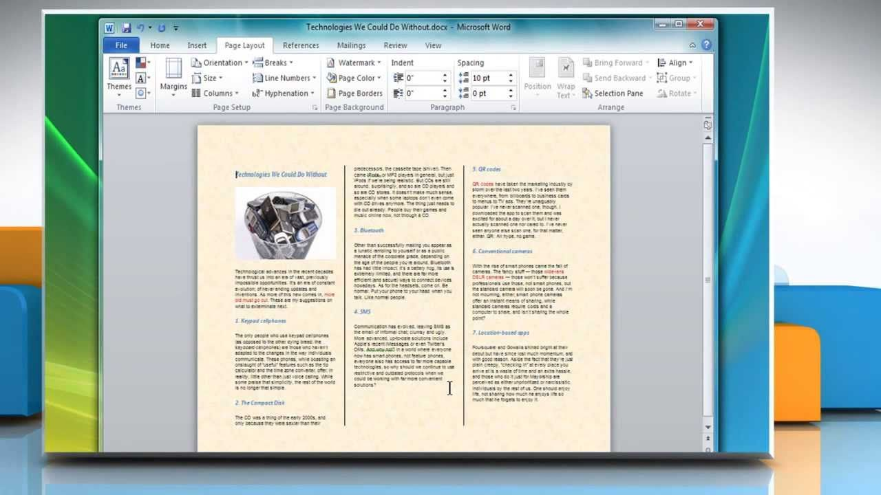 How To Make A TriFold Brochure In Microsoft® Word 2007