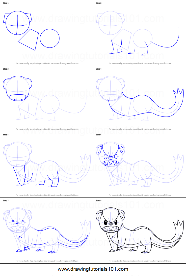 How To Draw Yungoos From Pokemon Sun And Moon Printable Step By Step Drawing Sheet Drawingtutorials101 Com Drawing Sheet Pokemon Pokemon Drawings