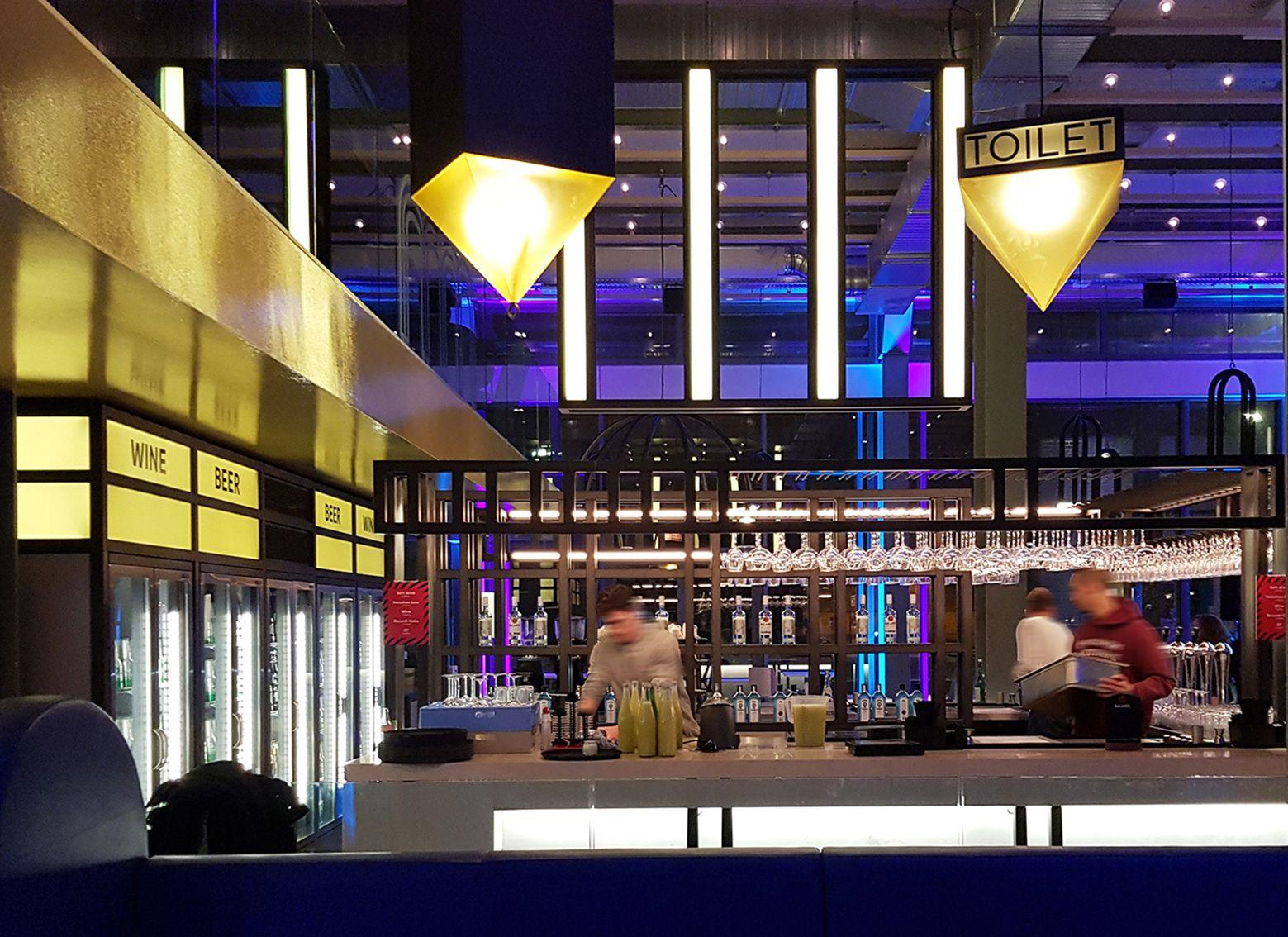Verlichting bar, The Student Hotel in Maastricht