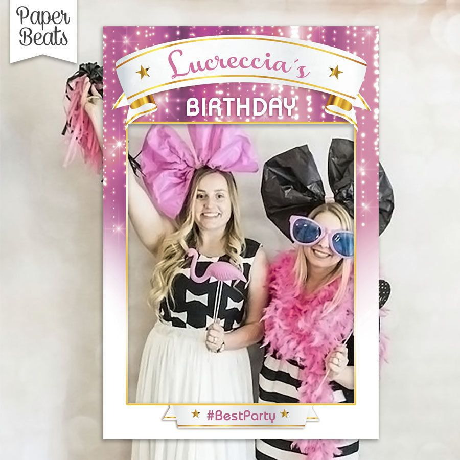 Birthday Photo Booth Frame - Bridal Shower Photo Prop - Marco para ...