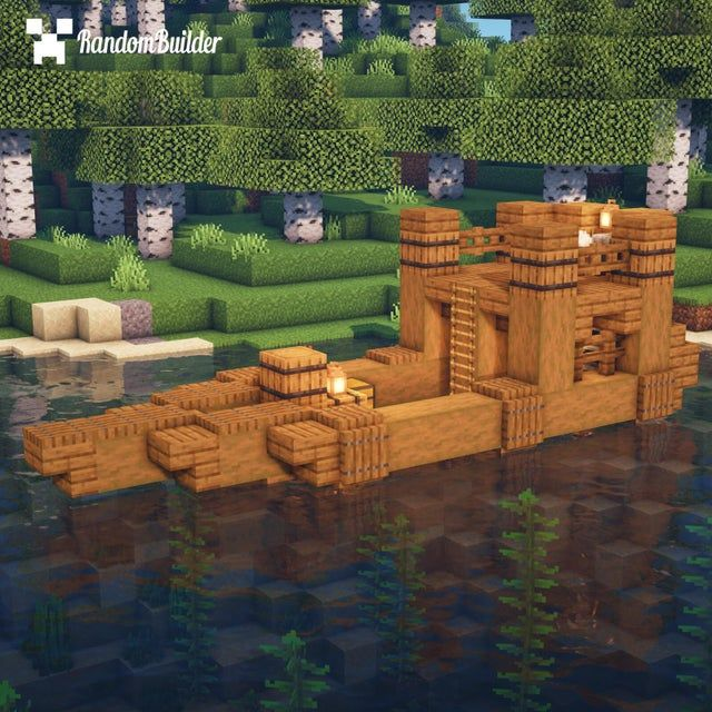 I built this simple Boat House that's perfect for surviving your first nights [Tutorial in ments]