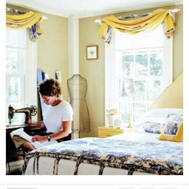 Wrap Curtain Rod With Fabric And Pleat Dbl Sided Fabric Drape On Pole From Bhg Valance Window Treatments Home
