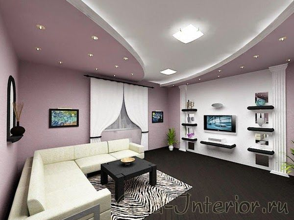 bedroom false ceiling designs of gypsum with hidden. Black Bedroom Furniture Sets. Home Design Ideas