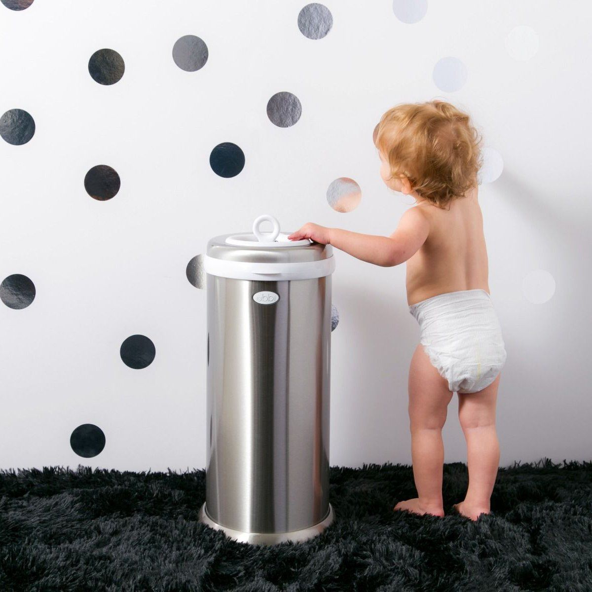 Ubbi Stainless Steel Diaper Pail - Chrome in 2019 | Ubbi