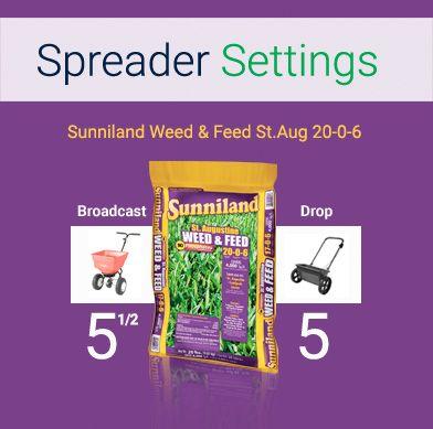 Weed And Feed Spreader Settings Sevenstonesinc