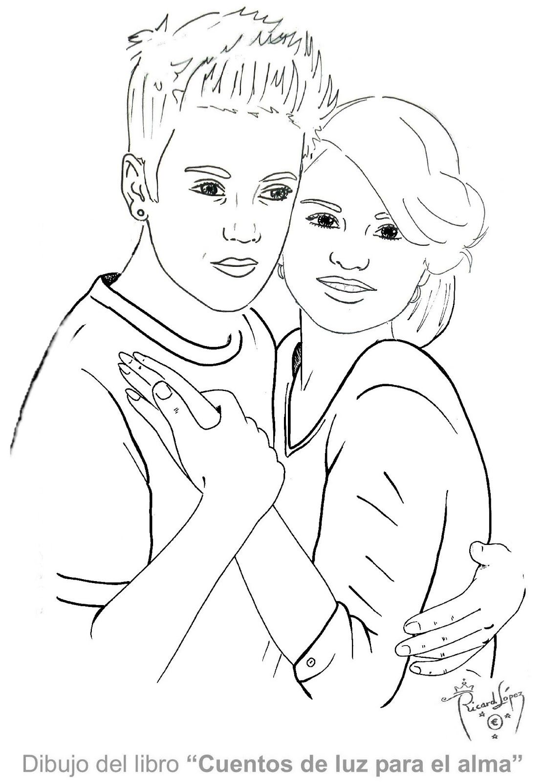 justin bieber with selena gomez coloring pages to print | Selena ...