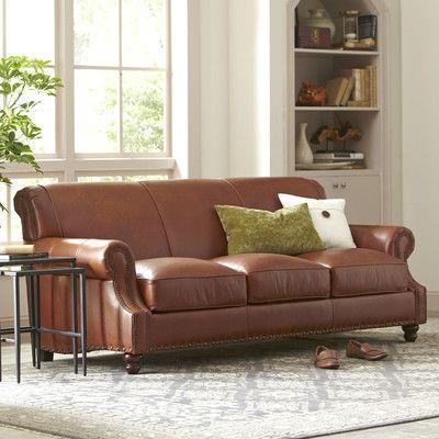 Birch Lane Landry Leather Sofa Reviews Wayfair