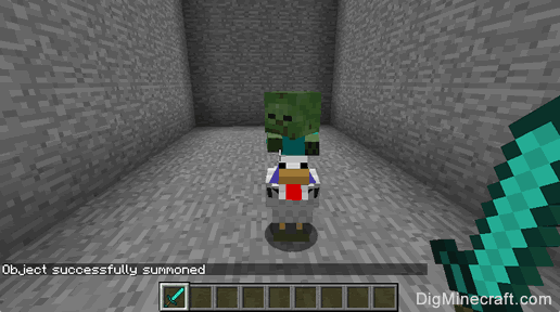 Summon A Baby Zombie Riding A Chicken In Minecraft Game Commands And Cheats Baby Zombie Minecraft Baby Minecraft Commands