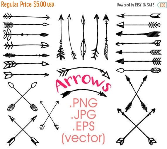 80 Until New Year Arrows Clipart Hand Drawn Arrows Tribal Etsy How To Draw Hands Hand Drawn Arrows Arrow Clipart