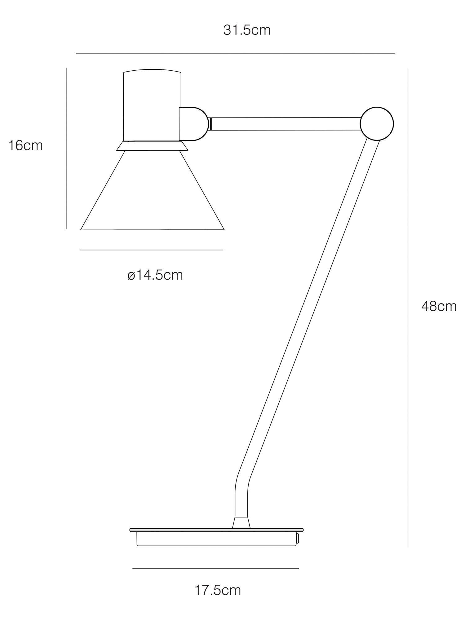 Type 80 Desk Lamp in Rose Pink | Free