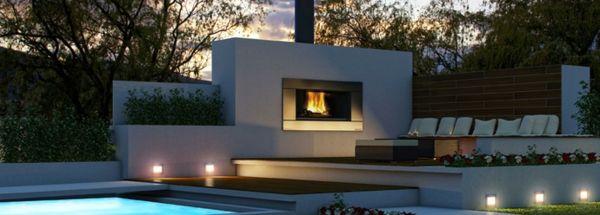 feuerstelle am Pool COURTYARD \/ BOMA Pinterest Garden ideas - eine feuerstelle am pool